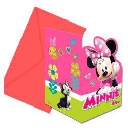 12 tarjetas de invitación de Disney para fiestas Minnie con sobre cumpleaños niño niña