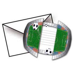 8 tarjetas cumpleaños invitación * estadio de fútbol * para la fiesta 10 x 10 x10 cm