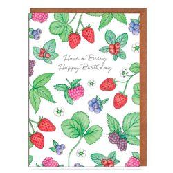 Flores y frutos tarjeta de cumpleaños felicitación de cumpleaños, tarjeta de cumpleaños para mujer