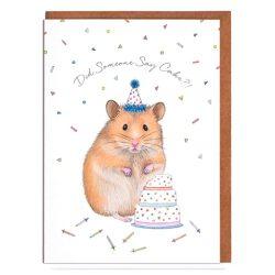Hamster tarjeta de cumpleaños felicitación de cumpleaños, tarjeta de cumpleaños para mujer