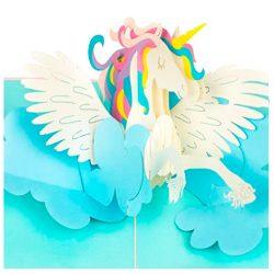 Tarjeta de cumpleaños pop-up con diseño de unicornio PaperCrush