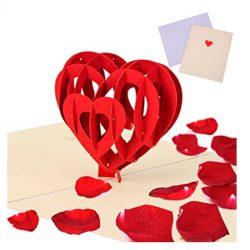 Tarjeta de cumpleaños amor desplegable 3D y felicitación para mejores mamás. novios, parejas...
