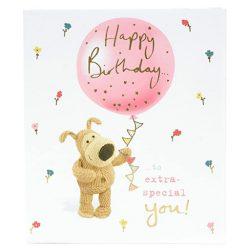 Tarjeta de cumpleaños especial para esa persona especial diseño muy mono boofle