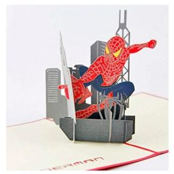 Tarjeta de cumpleaños infantil Spider Man felicitación de niño, tarjeta 3D original
