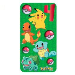 Tarjeta de cumpleaños infantiles para niño personajes de Pokemon 4 años celebracion