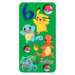 Tarjeta de cumpleaños infantiles para niño personajes de Pokemon 6 años celebracion