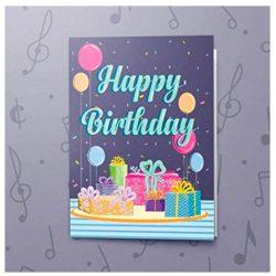 Tarjeta de cumpleaños musical del feliz cumpleaños mensaje grabable 10 segundos