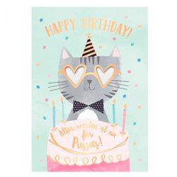 Tarjeta de cumpleaños musical y felicitación música con sonido tarjeta tamaño grande DIN A5