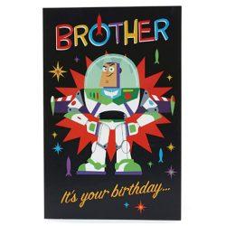 Tarjeta de cumpleaños niños de Hermanos - Disney Toy Story 4 - Buzzlightyear