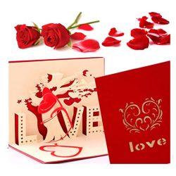 Tarjeta de cumpleaños o de amor romántica para el del aniversario del amante amor imposible