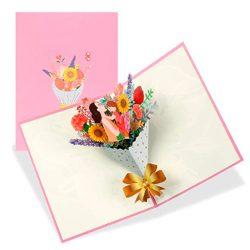 Tarjeta de cumpleaños para mama de felicitación 3D flor postales con Sobre