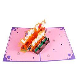 Tarjeta de cumpleaños para mama y agradecimiento con movimiento 3D, hecha a mano