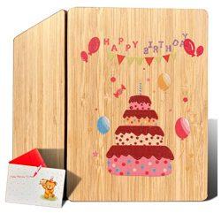 Tarjeta de cumpleaños para tia felicitación de cumpleaños con bambú real amiga mujer, hija, hijo