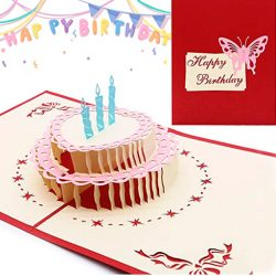 Tarjeta de cumpleaños para tia pastel en 3d tarjeta felicitación Pop Up mama, sobrina, prima, amiga