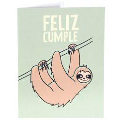 Tarjeta de cumpleaños para un amigo, sobrino, hermano felicitación Perezoso Din A6
