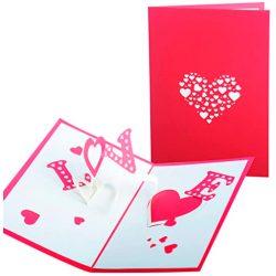 Tarjeta de cumpleaños y amor felicitación para el enamorado novia marido especial tarjeta 3D