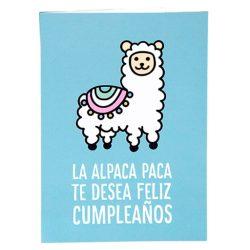 Tarjeta de cumpleaños y postal de felicitación - Alpaca paca con mensaje de Alpaca tamaño Din A6