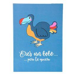 Tarjeta de cumpleaños y postal de felicitación - Dodo azul con mensaje de Dodo tamaño Din A6