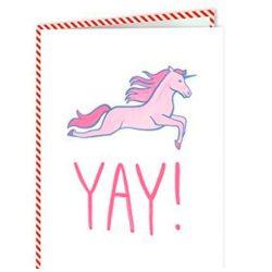 Tarjeta de cumpleaños y tarjeta de felicitación unicornio YAY 12 cm x 17 cm