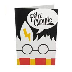 Tarjeta de cumpleaños y tarjeta felicitación de Harry Potter 12 x 17 cm, sobre incluido