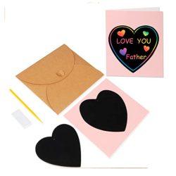 Tarjeta de felicitación para el día de la madre, abuela, madrina, raspa tu mensaje dentro del corazon