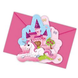 Tarjeta de invitación Unicornio para Cumpleaños Niños o Fiesta