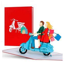 Tarjeta de regalo de compras para mujeres de compras, regalo para mamá, esposa, mejor amiga
