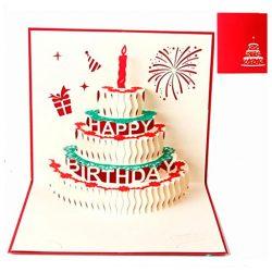 Tarjetas Cumpleaños para tia y familiares Deesospro® Tarjeta de felicitacion en 3D Regalo ideal