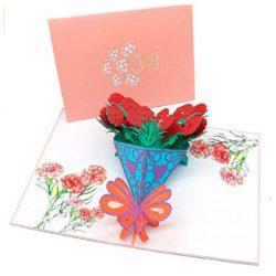 Tarjetas de cumpleaños con flores de clavel el mejor regalo para el cumpleaños perfecto