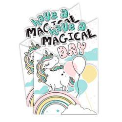 tarjeta cumpleaños unicornio