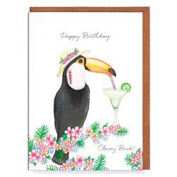Toucan tarjeta de cumpleaños felicitación de cumpleaños, tarjeta de cumpleaños para mujer
